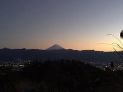 夕暮れと富士山!!