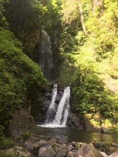 昇仙峡の大自然に囲まれた滝