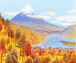 日本平よりの富士(貼り絵)